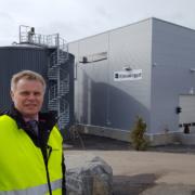 Tom Werven foran Mjøsanlegget