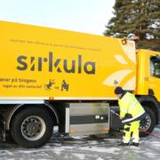 Bil som kjører på biogass fra Mjøsanlegget