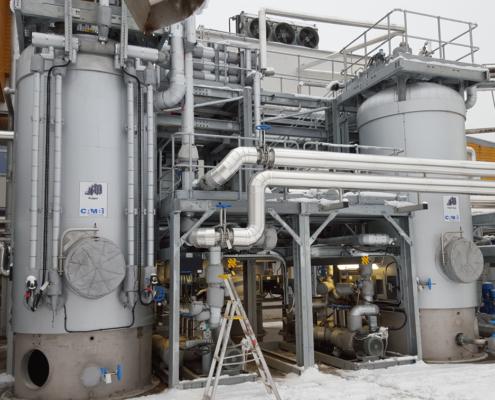 Nedbrytning og gassuttak på Mjøsanlegget