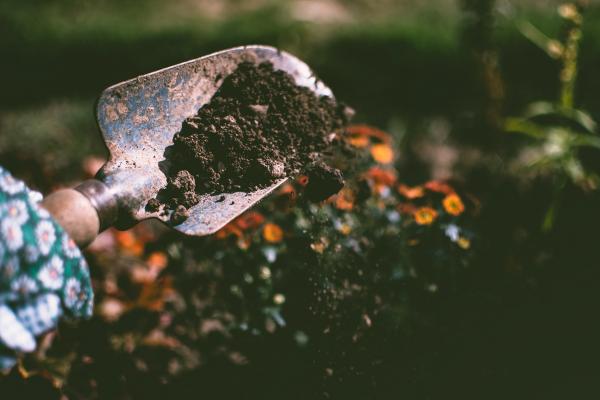 jord i spade